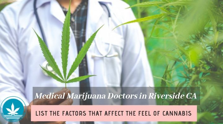 Medical Marijuana Doctors in Riverside CA List the Factors that Affect the Feel of Cannabis